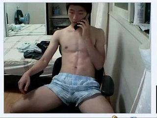 Korean Guy Jacks Off