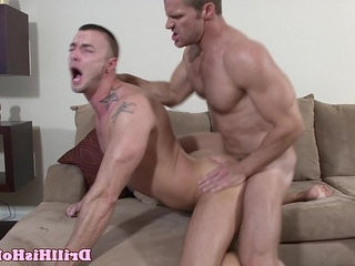 Powerful top giving throatfuck session