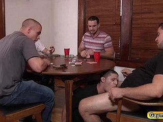 Three gay dicks plow Tino Cortez asshole