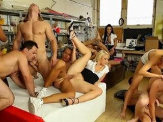 Bi guys hardcore group fuck orgy