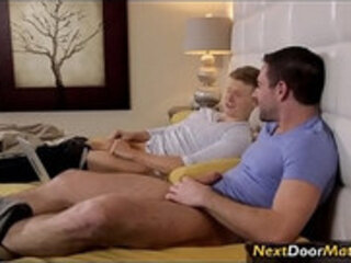 Gay brothers comparing dick sizes