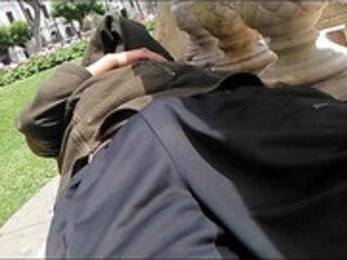 Pira dormido en la plaza San martin de Lima parte