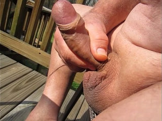 Year old Grandpa playing and cumming again!