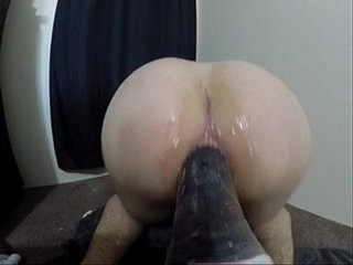 Inserting Huge dildo