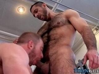 Fucked hung bear sprayed