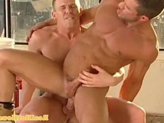 Muscular homo jock getting ass pounded
