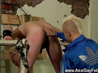 Twinks XXX Chained to the railing, youthfull and smooth Alex can do