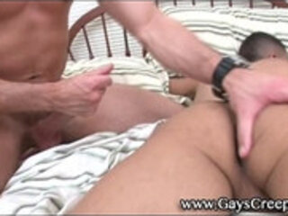 Amateur straight guy sleeping gets rimmed