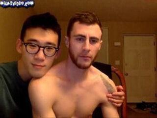 loving couple on webcam