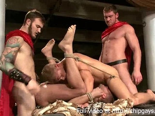 Gladiators in bdsm orgy