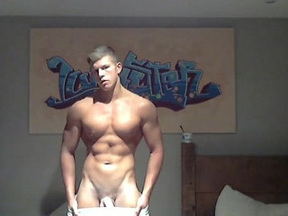 blonde muscle jock shows