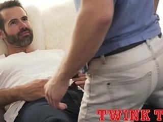 TWINKTOP - Hung twink fucks hot tatted daddy Dolf Dietrich bareback