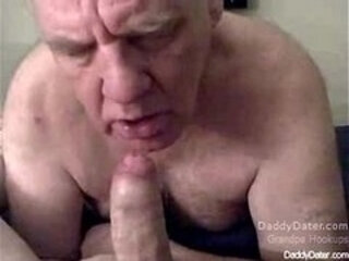 Silverdaddies Grandpa Sucking Uncut Cock